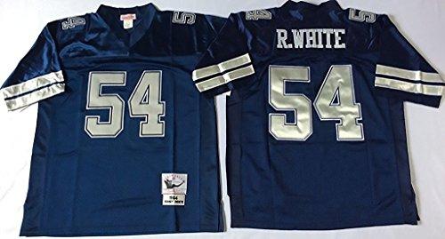 Men's Randy White R.WHITE #54 Blue Throwback Football Jersey Large