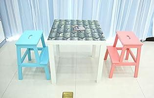Taburete portátil para niños,Bebé de Dos Pasos, Lavabo de Escritorio, Antideslizante, baño, Escalera de Escala, Taburete, Escalera de plástico, Pedal de niños, reposapiés KADJ (Color : Yellow): Amazon.es: Hogar