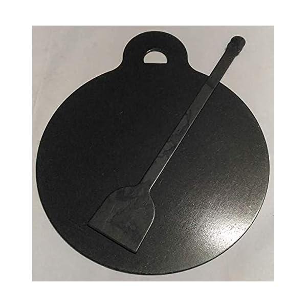 Siva Naturals Iron dosa tawa 10 INCH ( 900g ) with Turner, Black