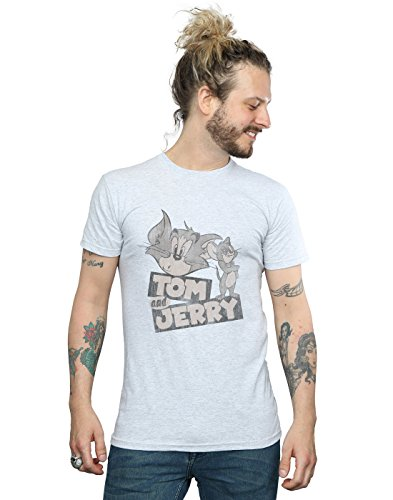 e T Sport Absolute Gris Tom Cult shirt Cartoon Jerry Homme Wink UExq1xCwa