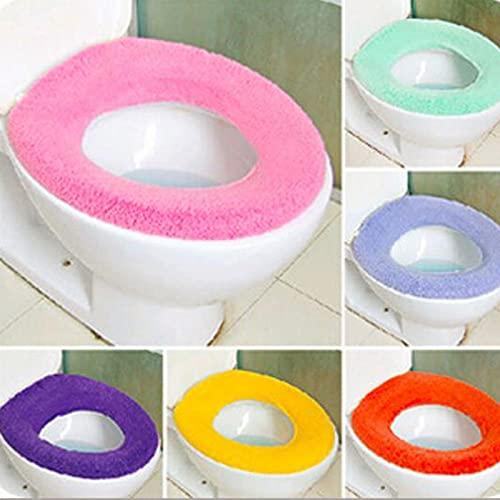 Hwjmy 1 St Toilet Seat Case Warmer Toilet Accessoires Voetstuk Pan Kussen Pads Wasbare Toilet Stoelhoezen Willekeurige…