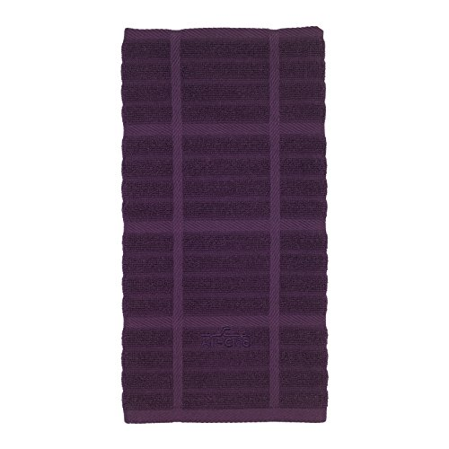All-Clad Textiles 100-Percent Combed Terry Loop Cotton Kitchen Towel, Oversized, Highly Absorbent and Anti-Microbial, 17-inch by 30-inch, Solid, Plum