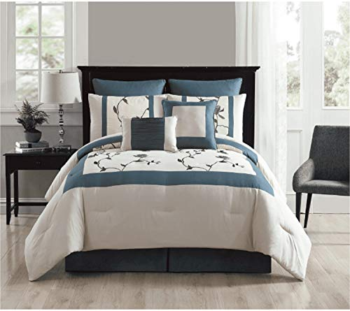 le Embroidered Comforter Set, Queen, ()