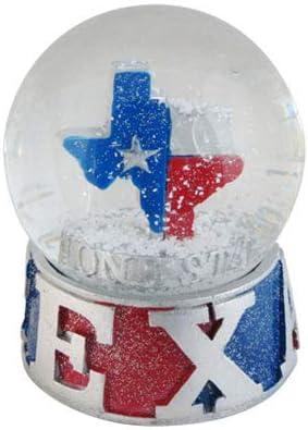 Topline Texas Snow Globe 65mm with Snow Snow Dome