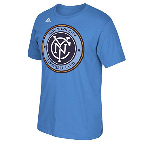 fan products of MLS New York City FC Men's Logo Set Tee, Small, Light Blue