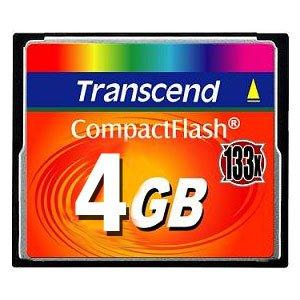 Transcend 4 GB 133x CompactFlash Memory Card TS4GCF133 (4gb Compactflash Flash Memory Card)
