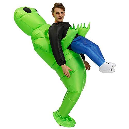 Area 51 Halloween (Fast DELIVERY ET Alien Inflatable Suit Fancy Costume Halloween Cosplay Fantasy Costume 51 Area Men Women)