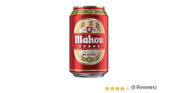 Mahou 5 Estrellas Sin Gluten Lata Cerveza - 330 ml