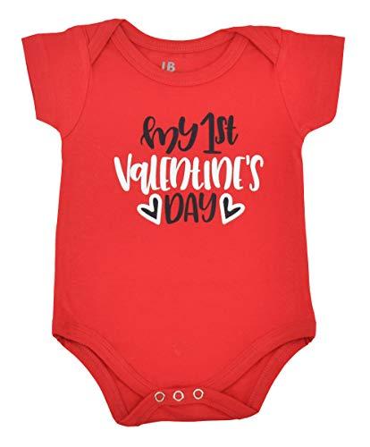 - Unique Baby Girls My 1st Valentine's Day Onesie Layette Set (6 Months) Red