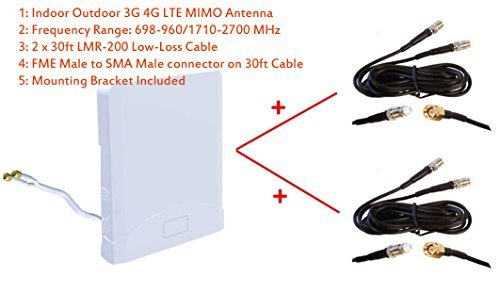 3G 4G LTE Indoor Outdoor wide band MIMO Antenna for Bell 4G LTE NETGEAR MBR1516 MBR 1516 Turbo Hub Citywirelessca