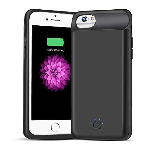 Battery Case for iPhone 6 6s, 5000mAh Portable Protective Charging Case Compatible with iPhone 6 6s(4.7 inch) Rechargeable Charger Case Extended Battery Pack