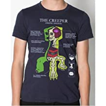 Minecraft Creeper Anatomy Officially Licensed T-Shirt (Youth Extra Large XL)