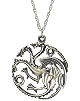 Game of Thrones Inspired Targaryen Silver Color Pendant Costume Necklace