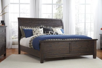 Signature Design by Ashley B658-97 Trudell Panel Rails, (Wood Sleigh Headboard)