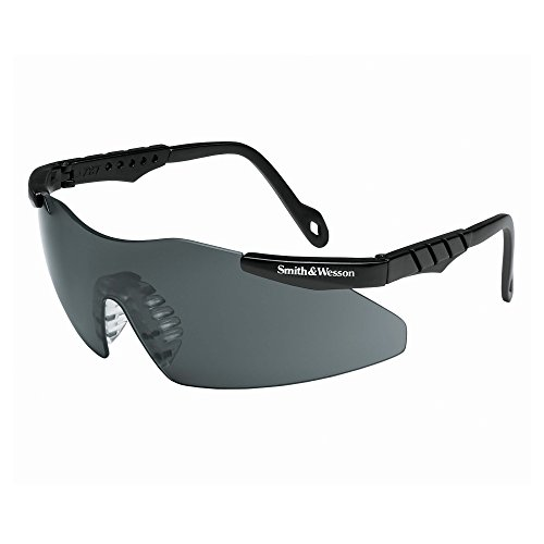 Smith & Wesson Magnum 3G Mini Safety Glasses (19824), Black Frame, Smoke Lens, 12 Pairs / Case (Disposable Sunglasses)