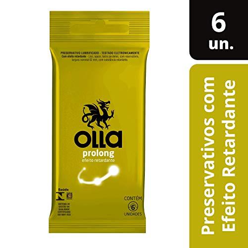 Conjunto de 6 Preservativos Lubrificados Prolong, Olla