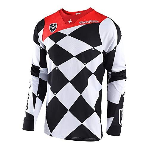 - Troy Lee Designs Men's Offroad Motocross Joker SE Jersey (Medium, White/Black)
