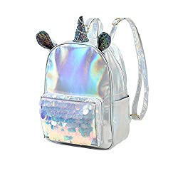 Unicorn Sequin Glitter Backpack For Girls