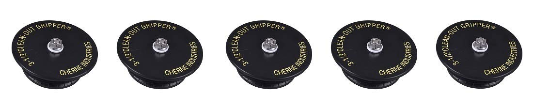 Cherne 270138 Clean-Out Gripper 3.78''-4.25'' Inch Plug Seals with 4-Inch Threaded Opening (5-(Pack))