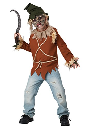 InCharacter Costumes Psycho Scarecrow Costume, Size 8/Medium (Scary Kids Costume)