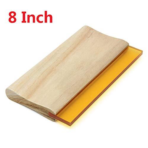 GIlH 8 Inch Wooden Handle Printing Squeegee Ink Scraper Blade 70 Durometer Ink Scraper