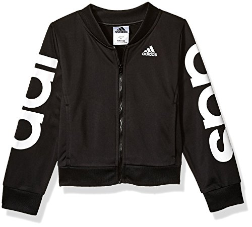 adidas Girls' Big Bomber Jacket, Black Heather, S (7/8)