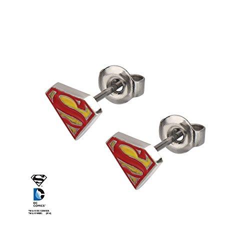 DC+Comics Products : DC Comics Superman Logo Earrings