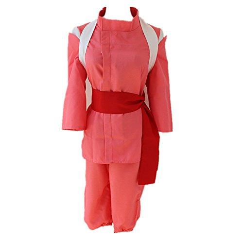 [Lovcomic Women's Spirited Away Cosplay Costume Chihiro Ogino Kimono Suit Size Medium Pink] (Chihiro Cosplay Costume)