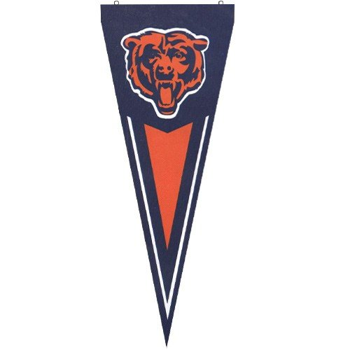 NFL Chicago Bears Navy Blue Premium Quality (Chicago Bears Applique Banner Flag)