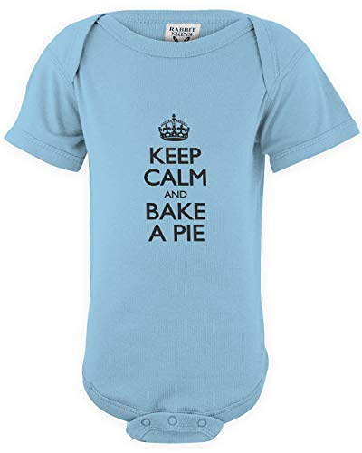 Light Pecan Pie - shirtloco Baby Keep Calm and Bake A Pie Infant Bodysuit, Light Blue 18 Months