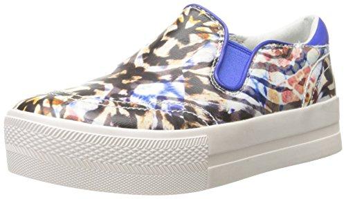Ash Women's Jungle Fashion Sneaker, Natural/Electra, 37 EU/7 M US