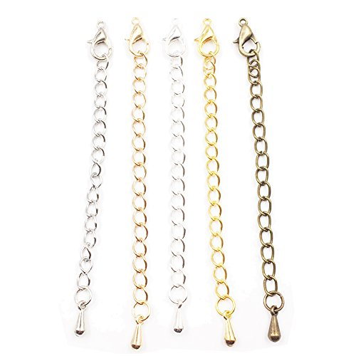 White Gold Assorted Link Chain - 3