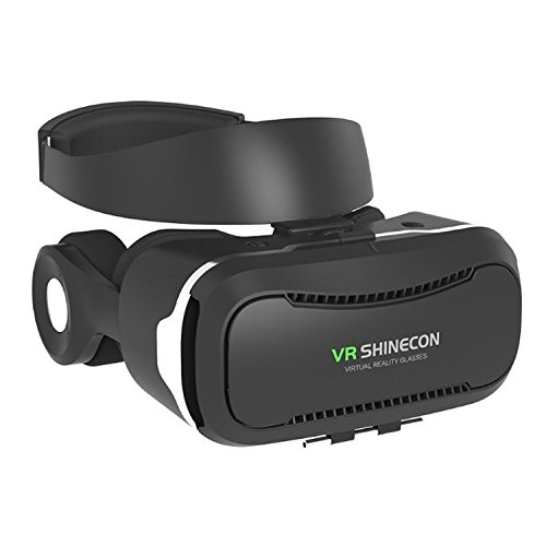 Shinecon4.0 VR Box Virtual Reality 3D Glasses With Headphone Supported Smartphone In Size 4-6 Inches
