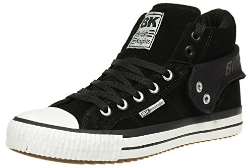 British Knights ROCO BK men trainer Sneaker B40-3705-01 Suede black, shoe size:EUR 42