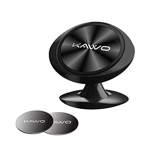 Magnetic Car Phone Mount,KAVVO Cell Phone Holder For Car 360° Rotation Stick-on Dashboard Car Phone Mount Compatible iPhone x/8 Plus/8/7,Galaxy S7/8/9,Moto g6,GPS (Black) by KAVVO