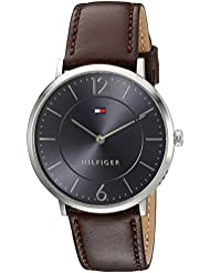 Tommy Hilfiger Mens Sophisticated Sport Quartz Stainless Steel and Leather Watch, Color:Brown (Model: 1710352)