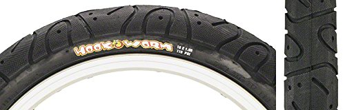 Maxxis Hookworm BMX Tire 16'' x 1.95 Black Steel by Maxxis
