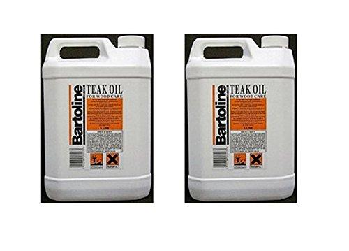 2 x 5 Ltr Bartoline - Teak Oil For Wooden Garden Furniture Oil - 10 Litre