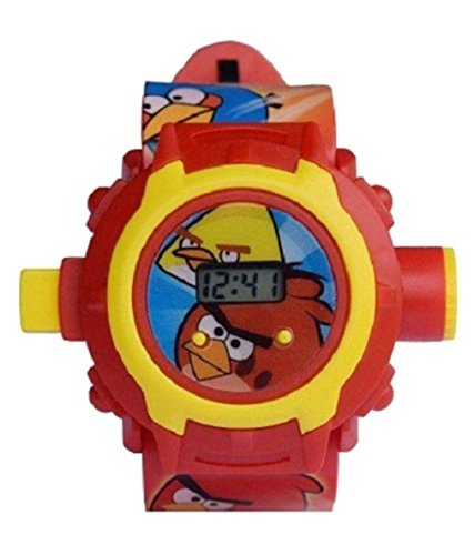 Angry Birds images Projector Watch Kids Digital Wrist Watch by SwissRock