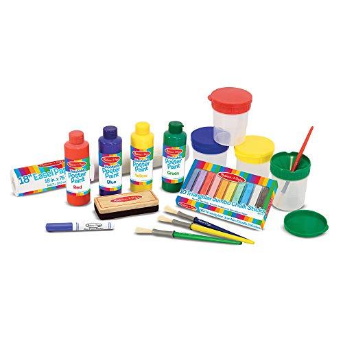 Melissa & Doug Easel Companion Accessory Set (Arts & Crafts, Promotes Creativity, 25 Pieces, 10.5 H x 5 W x 19 L)