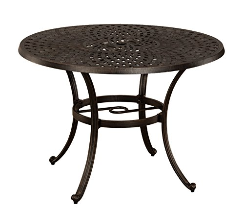 Hillsdale outdoor Esterton Round Dining Table, Black with Gold - Stores Hillsdale