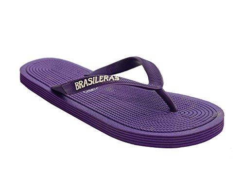 Brasileras ROP - Chanclas unisex, color lila, talla 37-38