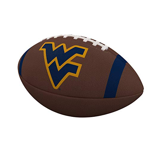 (Logo Brands NCAA West Virginia Team Stripe Official-Size Composite Football, Multi, One Size)