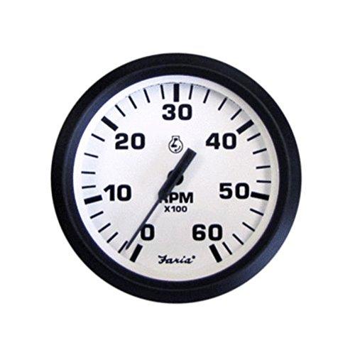 - EURO WHITE 6000 RPM Standard Ignition Tachometer