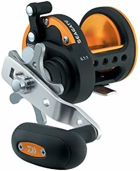 Daiwa SGT50H Seagate Star Drag Saltwater Conventional Reel, Black and Orange Finish