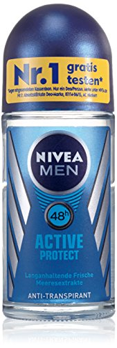 Nivea Men Deo Active Protect Deoroller, Antitranspirant, 2 x 50 ml