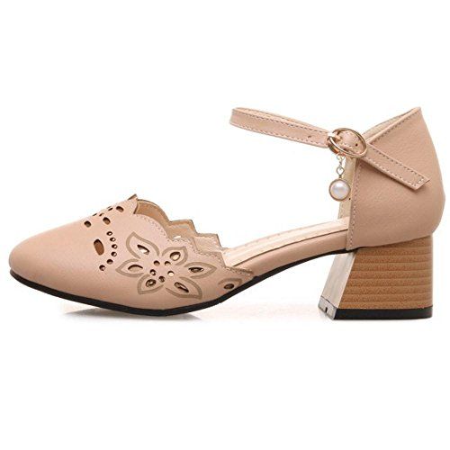 Strap FANIMILA Buckle Women Pumps Pink FFxfE60q