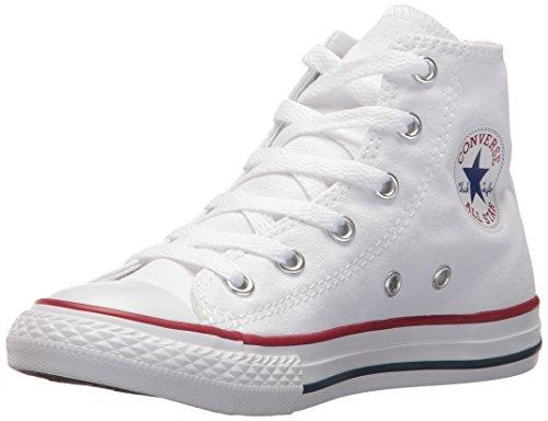 Converse Kid's Chuck Taylor All Star High Top Shoe, Optical White, 3 M US Little Kid