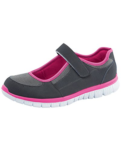 Cotton Traders Womens Ladies Flexi Active Adjustable Trainers E Fit Fuchsia 5 sqazca