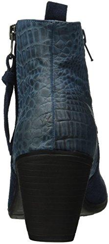Unbekannt Leder-Stiefelette, Botines para Mujer Azul